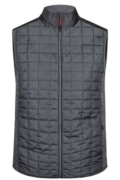 Men's Knitted Hybrid Vest - Weste im stylischen Materialmix
